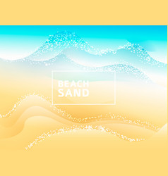beach sand ocean abstract background art vector image