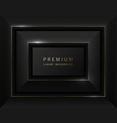 Black abstract rectangular luxury frame vector