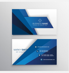 Blue and white corporate business card design vector