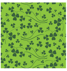 bright green seamless pattern for saint patrick vector image