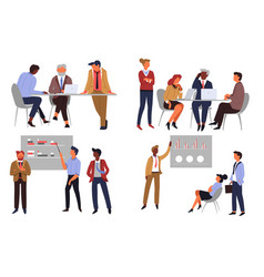 business teamwork office workers co-working and vector image