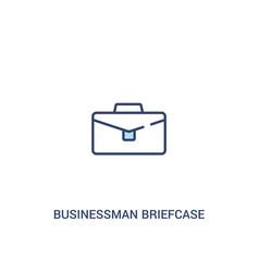 Businessman briefcase concept 2 colored icon vector