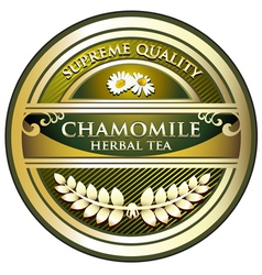 Chamomile Herbal Tea Label vector image