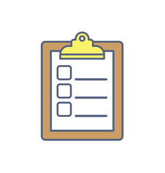 checklist to do list flat vector image