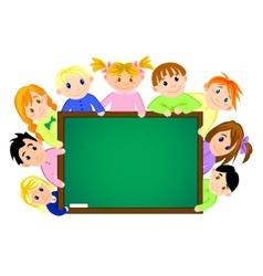 children near school board vector image