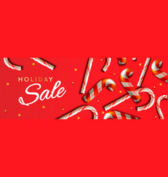 christmas sale banner template with vector image