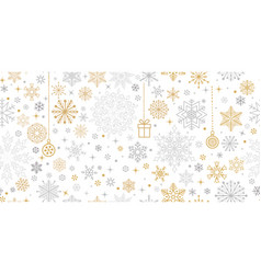 christmas snow winter seamless pattern holiday vector image