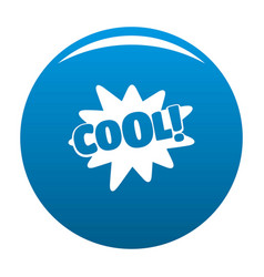 comic boom cool icon blue vector image