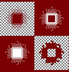 cpu microprocessor bordo and vector image