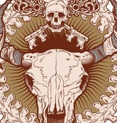 Cranio Ox vector image