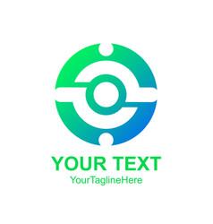 creative abstract circle man logo design template vector image