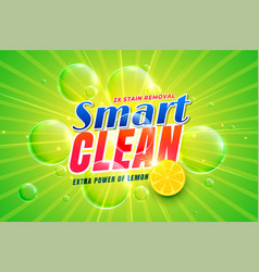 dishwashing detergent with lemon packaging vector image
