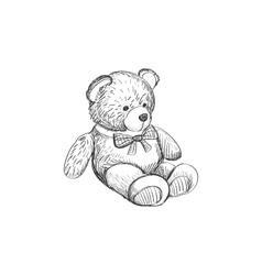Doodle teddy bear vector