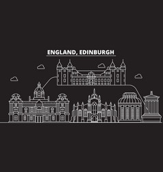 Edinburgh silhouette skyline great britain vector