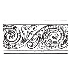 Evolute spiral frieze is a wavelike pattern vector