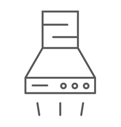 extractor hood thin line icon kitchen appliance vector image