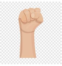 Fist up icon cartoon style vector