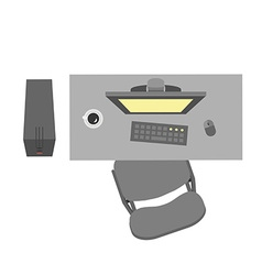 Flat office workplace vector image