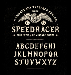 Font speed racer vector