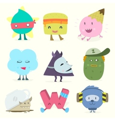 funny characters vector image