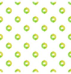 Green refresh arrows pattern cartoon style vector