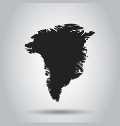 greenland map black icon on white background vector image