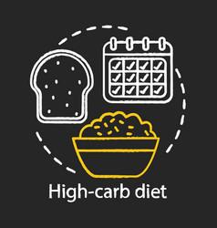 high carb diet chalk concept icon vegan lifestyle vector image