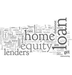 Home equity loan beware of bad lenders vector
