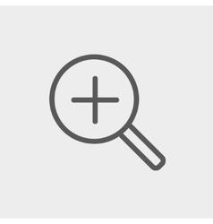 Increase volume thin line icon vector
