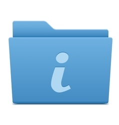 information icon on blue folder vector image