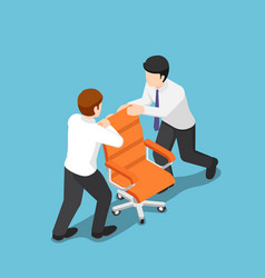 isometric two business people fighting over for vector image