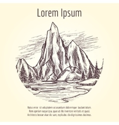 Landscape tourist banner design vector