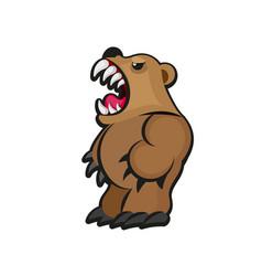 little teddy bear character vector image