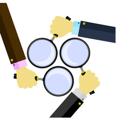 magnifying glass magnify icon magnifier or loure vector image