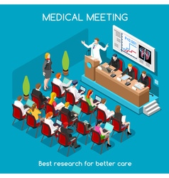 Medical Meeting People Isometric vector