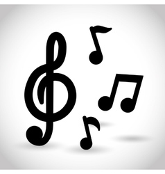 Music notes in black vector