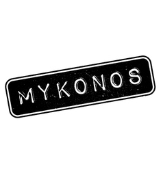 Mykonos rubber stamp vector