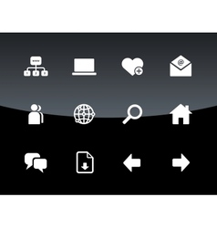 Network icons on black background vector