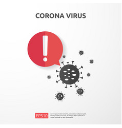 Pandemic coronavirus outbreak covid-19 alert vector