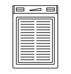 power solar bank icon outline style vector image