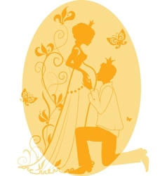 Pregnant queen and king vector