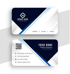 professional business card design geometric lines vector image