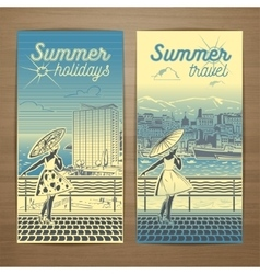 Resort flyer 1 vector image
