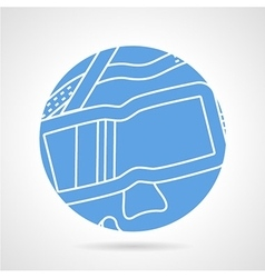 Round blue icon for diving mask vector image