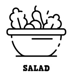 Salad icon outline style vector