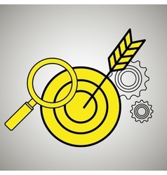 search target icon vector image