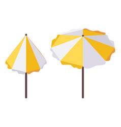 set isometric beach tanning umbrella vector image