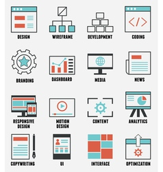 Set of e-commerce and internet service icons vector image