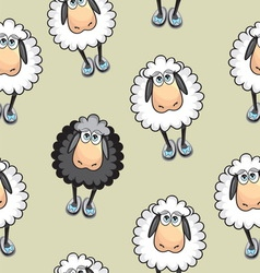 Sheep Seamless pattern vector image