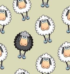 Sheep seamless pattern vector